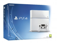 PlayStation 4 500GB Console with Controller (White)