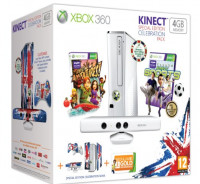 Xbox 360 4GB Celebration Pack with Kinect Sensor and Two Games