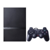 PlayStation 2 Slimline Console with Two controllers