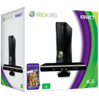 Xbox 360 4GB Slim Console with Kinect Sensor and Kinect Adventures