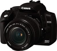 Canon EOS 350D Digital SLR Camera 18-55mm Lens