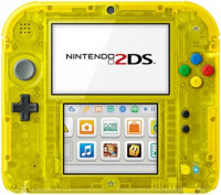 Nintendo 2DS Transparent Yellow, Unboxed